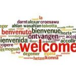 Welcome text in different languages