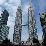 Twin tall towers
