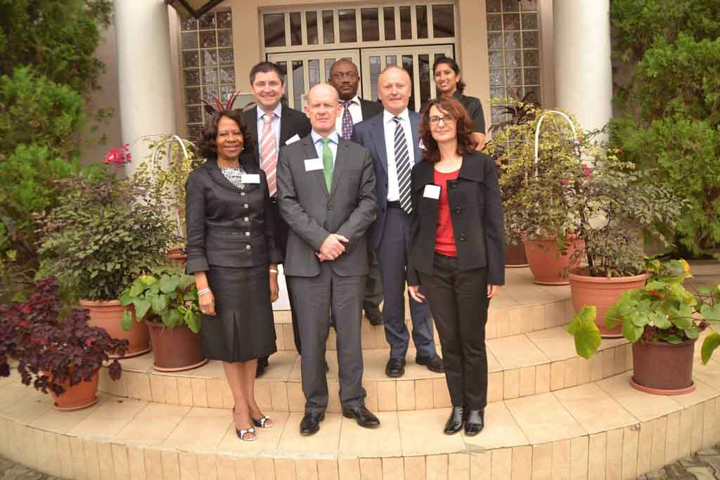 DIFC staff members pictured on a visit abroad