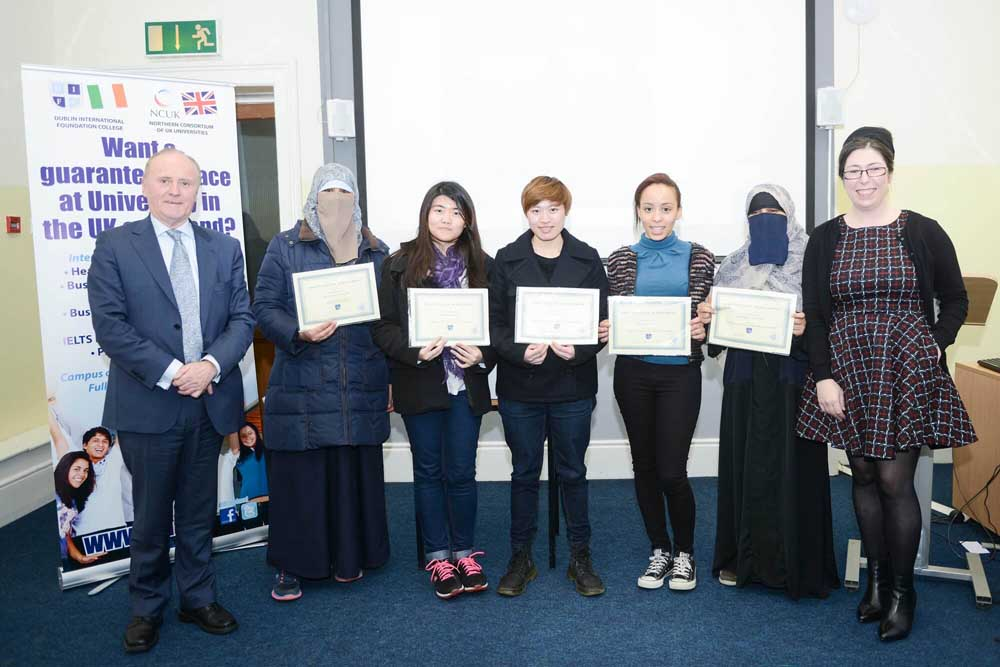 DIFC students pictured with their certificates
