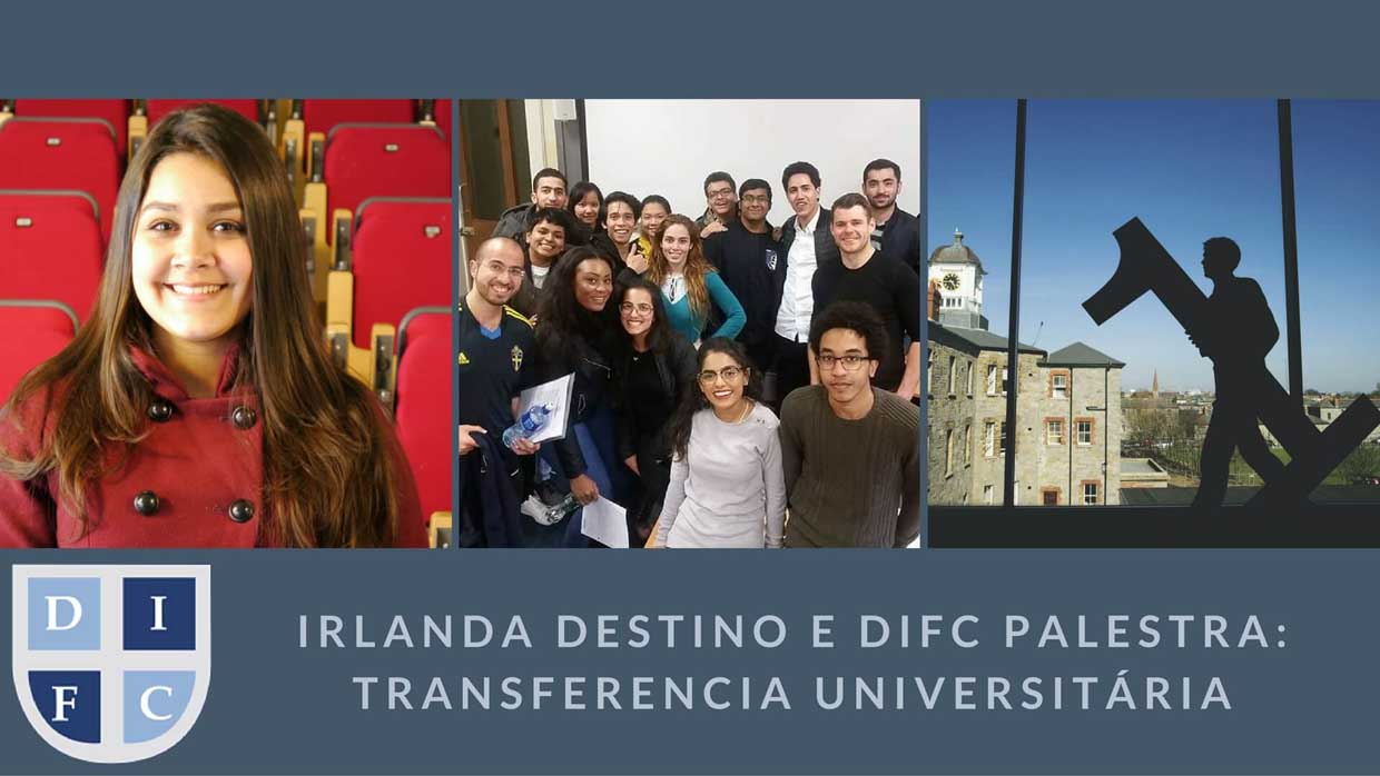 DIFC students pictured in a three image collage