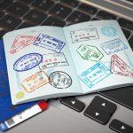 Visa ontop of laptop keyboard