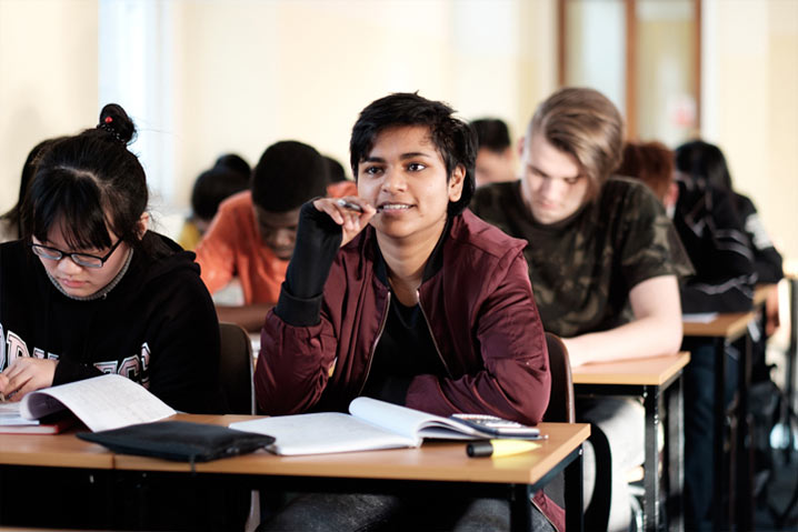 International students studying in the UK