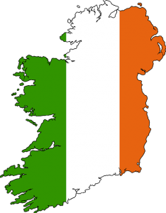 Map of Ireland in country colours
